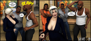 Three black guys enjoy hot blonde maid p - XXX Dessert - Picture 3