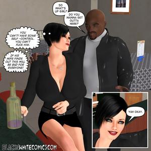 White brunette seduces bald black dude t - XXX Dessert - Picture 4