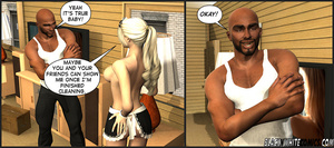 Three black guys enjoy hot blonde maid p - XXX Dessert - Picture 4