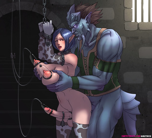 Four shemales enchained and pumped lacta - XXX Dessert - Picture 3