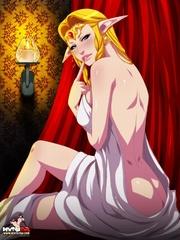 Nasty fairy blondie gets her cunt creampied - XXX Dessert - Picture 1
