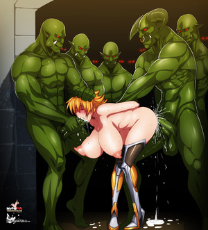 Five green monsters banging badly lovely - XXX Dessert - Picture 5