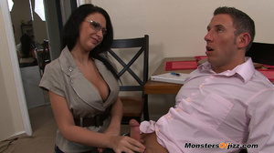 Bella gets a massive load spurted all over her HUGE tits! - XXXonXXX - Pic 3
