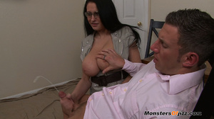 Bella gets a massive load spurted all over her HUGE tits! - XXXonXXX - Pic 14