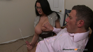 Bella gets a massive load spurted all over her HUGE tits! - XXXonXXX - Pic 15
