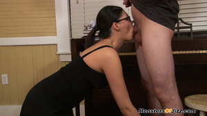 Miss Niedermejer is a strict school MISTRESS and she won't put up with any more faliures! She decides to show young Ricky what will happen if he doesn't stay in school... he'll end up CLEANING PEOPLE'S FEET! - XXXonXXX - Pic 4