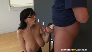 Jizz My Huge TITS - As usual, Huge titted Alia is nagging her boy to wake up and get up! But this morning is different: She has noticed his morning HARD ON and she wants a closer look!! - XXXonXXX - Pic 6