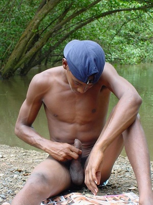 A lusty dark latino twink showing a very lean young body but very large uncut fuck pole and juicing  this pole dry - XXXonXXX - Pic 10