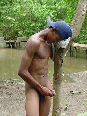 A lusty dark latino twink showing a very lean young body but very large uncut fuck pole and juicing  this pole dry - XXXonXXX - Pic 11