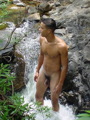 Lusty spicy young latino just loves to touch himself and watch his noodle grow into long john then spew cum all over himself - XXXonXXX - Pic 4