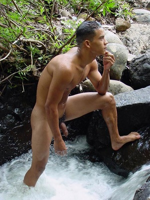 Lusty spicy young latino just loves to touch himself and watch his noodle grow into long john then spew cum all over himself - XXXonXXX - Pic 15