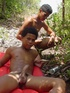 Two horny latino twinks get at each other outdoors…