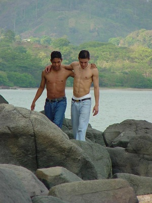 A pair of horny latino twinks ventures on how ass licking and fucking could even be more delicious on a beach - XXXonXXX - Pic 1