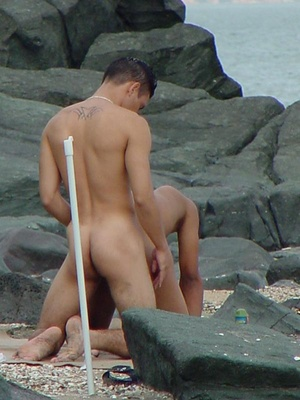 A pair of horny latino twinks ventures on how ass licking and fucking could even be more delicious on a beach - XXXonXXX - Pic 6