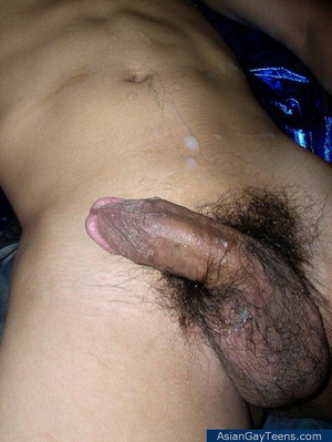 Young slim hot Asian guy poses nude showing off his cock and butt - XXXonXXX - Pic 12