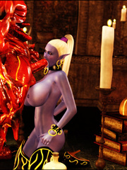 Red 3D devil fucking fairy's face eagerly - XXX Dessert - Picture 4