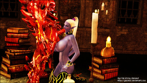 Red 3D devil fucking fairy's face eagerl - XXX Dessert - Picture 4