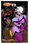 Dirty Santa drilling purple slutty fairy in doggy…