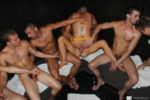 Multiple gay butt fucking and hard cock  - XXX Dessert - Picture 12