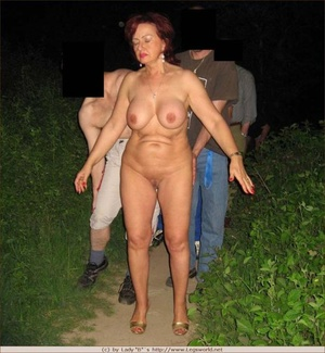 Busty red mature slut group banged outdoors - XXXonXXX - Pic 1