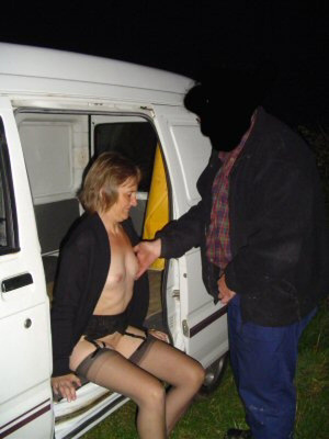 Nude granny in stockings banged eagerly in the van - XXXonXXX - Pic 1