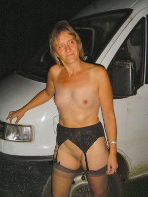 Nude granny in stockings banged eagerly in the van - XXXonXXX - Pic 3