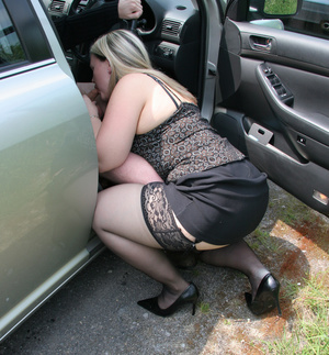 Dirty blonde pro in lace stockings opens wide her cunt for a cock in doggy style - XXXonXXX - Pic 2