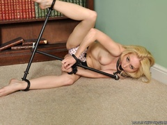 Blonde virgin in a tight ball gagg and securely - XXXonXXX - Pic 10