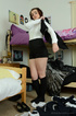 Cute geeky brunette slut slips off her old geeky…