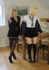 Cute blonde delinquent is hit on her hand with a…