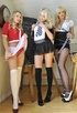 Two naughty blondes manage to convince another…