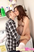 Couple goes horny in the laundry room even if the…
