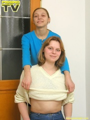 Two lesbian blondes enjoy making each other pee - XXXonXXX - Pic 1
