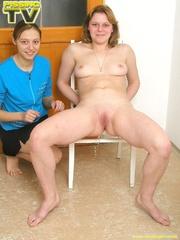 Two lesbian blondes enjoy making each other pee - XXXonXXX - Pic 8