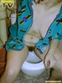 Beautiful brunette teen takes a piss in the toilet…