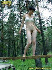 Half naked teen walks on a ladder proped on two - XXXonXXX - Pic 3