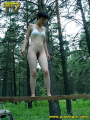 Half naked teen walks on a ladder proped on two - XXXonXXX - Pic 4