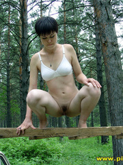 Half naked teen walks on a ladder proped on two - XXXonXXX - Pic 8