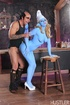 Lucky gargamel gets to lick and suck juicy blue…
