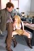 Youthful blonde slut seduces a hunky mature guy…