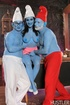 Naughty vexy involves papa smurf and brainy in…