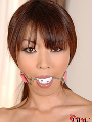 Lovely naked massuese gagged and is tied to her - XXXonXXX - Pic 1