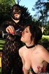 Sexy brunette sub is made by her ruthless dom to piss in wine glass afterwhich