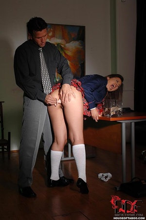 Sexy naughty school girl wearing a butt plug enjoyed having to hear her gushing piss into in a glass jar - XXXonXXX - Pic 5