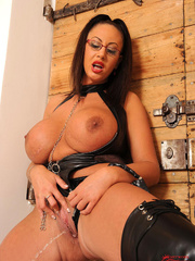 Very big boobed dom in leather thong and over the - XXXonXXX - Pic 11