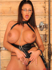 Very big boobed dom in leather thong and over the - XXXonXXX - Pic 12