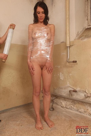 Matchless theme, girl plastic wrapped naked recommend