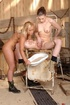 One naked babe sits on a rusting gynecologist's…