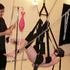 Teen gal Mabel on a sling with a blind fold suffering from an enema