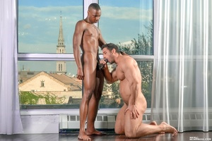 Two horny sexy hunks just can't resist h - XXX Dessert - Picture 6
